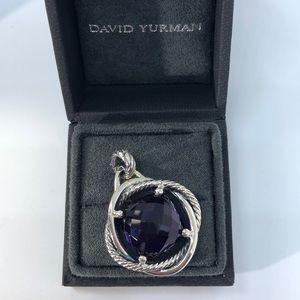 David Yurman 17mm Amethyst Infinity Pendant